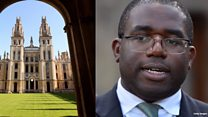 Lammy: 'Oxford lagging behind'
