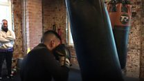 Helping boxers train during Ramadan