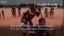 Desa Amazon yang 'kecanduan' ponsel