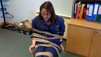 Woman taped to chair raises complaint