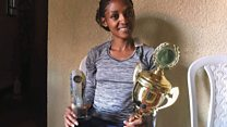 Salome Nyirarukundo aherutse gutsinda irushanwa rya Kigali Peace Marathon
