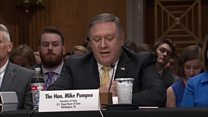 Pompeo reads Trump's letter to Kim Jong-un