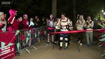 Paralysed marathon man gets robotic legs