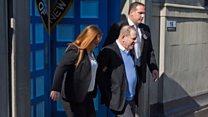 Harvey Weinstein led away in handcuffs