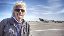 Branson trains for trip to space