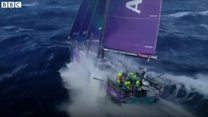 Marine litter clean up before race finale
