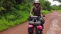 'I'm cycling through 54 African countries'