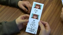 Famous faces help with Brownie bookmarks