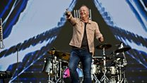 Simple Minds perform their classic track Don't You Forget About Me