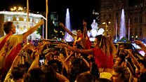 Real Madrid fans celebrate cup victory
