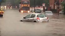 Storms flood Birmingham streets