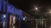 Flash-flooding hits Northamptonshire