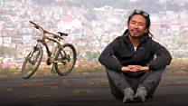 બામ્બુની સાઇકલ પર વિશ્વને નાગાલૅન્ડનો પરિચય આપતો પ્રવાસી
