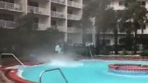 Mini waterspout in Florida pool