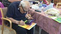 Man, 98, rediscovers passion for art