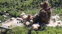 Видео разрушения ядерного полигона в КНДР