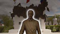 Путин исчез, а памятник остался: куда пропала статуя президента в Частоозерье?