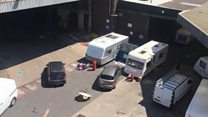 Invading travellers 'trash' brewery