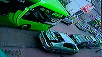 Dartford bus crash caught on CCTV