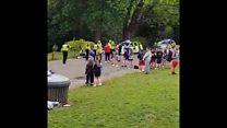 Arrest after Glasgow park stabbing