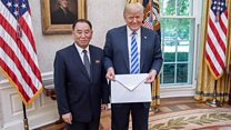 Kim sends Trump a very, very big letter