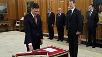 Spain's new PM is sworn in
