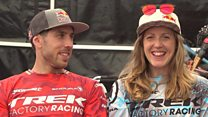 The high-flying mountain biking siblings