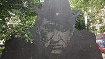 Hancock statue receives makeover