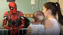 The 'Spider-Man' who cheers up sick kids