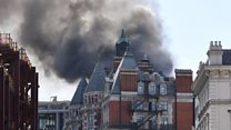 Knightsbridge fire: First pictures