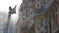 Пожар в фешенебельном отеле рядом в центре Лондона