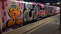 'Thugs' cover £17m train in graffiti