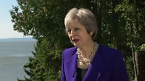 May has 'strong views' on Brexit