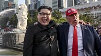 'Kim and Trump' buddy up in Singapore