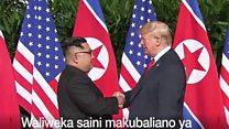 Tazama mkutano wa ana kwa ana kati ya Donald Trump na Kim Jong un