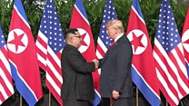 Trump Kim: The moment they shook hands