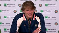 Tennis star struggles with reporter's Yorkshire accent