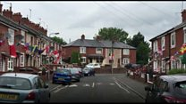 Flags fly for World Cup sweepstakes in west Belfast