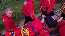 Mountain rescue helps Keith reach summit
