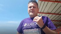 Fan completes football ground challenge