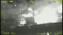 Aerial footage shows scale of the Glasgow School of Art fire