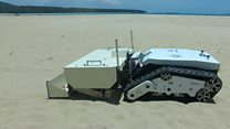 Thailand's rubbish-clearing 'beachbot'