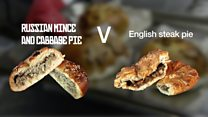 How does a Russian pie compare with an English one?