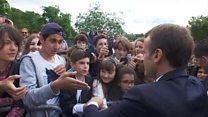 ประธานาธิบดีฝรั่งเศสไม่พอใจ ถูกนักเรียนเรียก 'มานู'