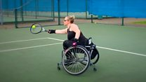 Wheelchair tennis woman 'defying odds'
