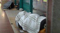 Shopping centre shelters homeless