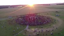 Summer Solstice from the sky at Stonehenge