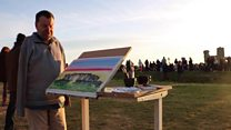 'Beautiful' Stonehenge sunrise painted by mouth and foot artist