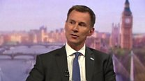 Hunt on 'completely inappropriate' Airbus
