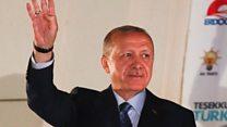 Erdogan thanks voters for 'love'
